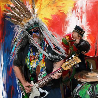 New Culture Painting - Mardi Gras 241 by Mawra Tahreem