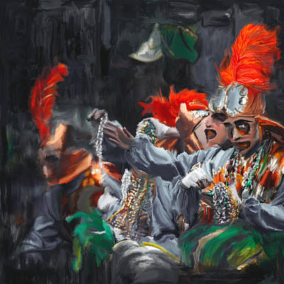 New Orleans Oil Painting - Mardi Gras 242 4 by Mawra Tahreem