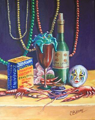 Doubloon Painting - Mardi Gras #5 by CB Hume