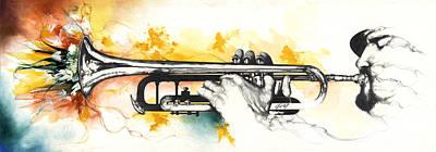 Mardi Gras Art Print by Anthony Burks Sr