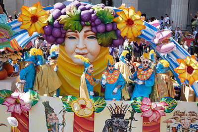 Photograph - Mardi Gras Bacchus Float by Carol M Highsmith