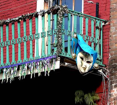 Photograph - Mardi Gras Balcony by Kathy K McClellan