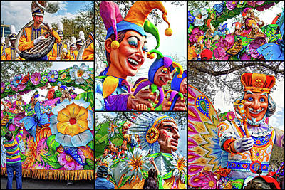 Marching Band Photograph - Mardi Gras Collage - Let The Good Times Roll 2 by Steve Harrington