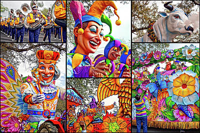 Marching Band Photograph - Mardi Gras Collage - Let The Good Times Roll by Steve Harrington