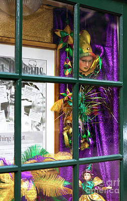 Photograph - Mardi Gras Colors In The Window by John Rizzuto