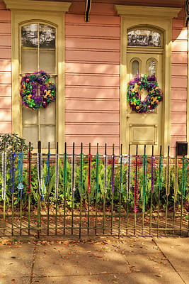 Photograph - Mardi Gras Cottage, New Orleans by Kay Brewer