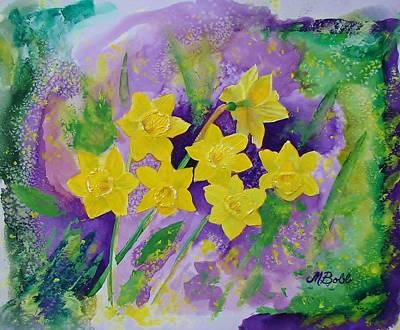 Mardi Gras Daffodils Art Print