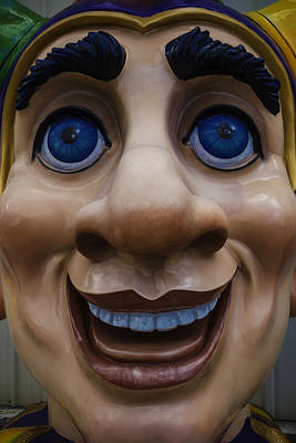 Photograph - Mardi Gras Face by Garry Gay
