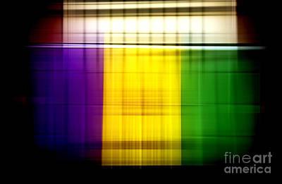 Digital Art - Mardi Gras Flag Colors  by John Rizzuto