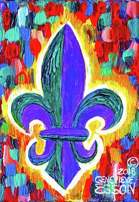 Painting - Mardi Gras Fleur De Lys by Genevieve Esson