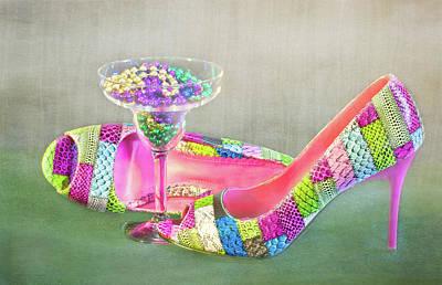Photograph - Mardi Gras Heels by Patti Deters