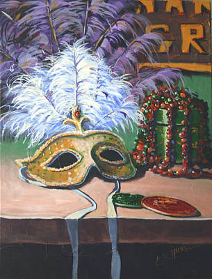 Doubloon Painting - Mardi Gras II by CB Hume