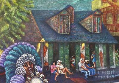 Painting - Mardi Gras Indians At Blacksmith Shop by Beverly Boulet