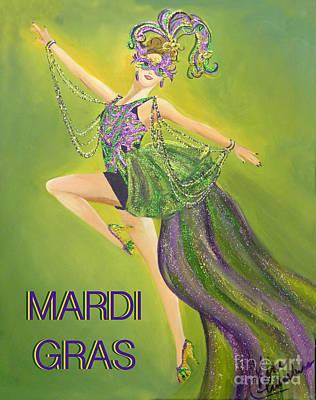 Painting - Mardi Gras by Kim Chambers