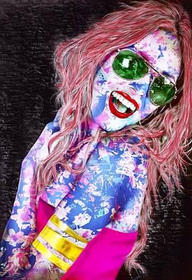 Mardi Gras Lady Art Print