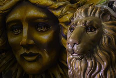 Photograph - Mardi Gras Lion by Garry Gay