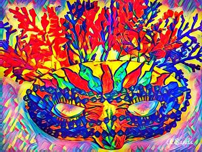 Painting - Mardi Gras Mask by Anne Sands