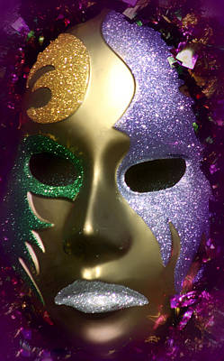 Photograph - Mardi Gras Mask by Debra Forand