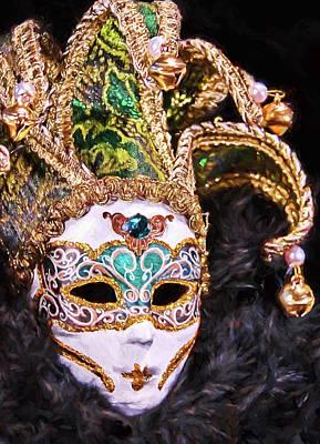 Artwork Photograph - Mardi Gras Mask  by Marcia Colelli