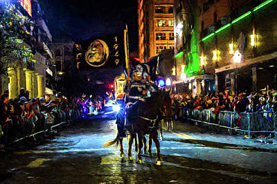 Mardi Gras Mot Horse And Flags Original