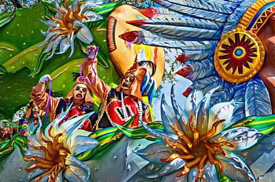 Mardi Gras Photograph - Mardi Gras - New Orleans 3 - Paint by Steve Harrington