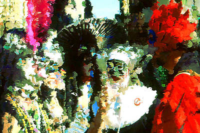 Painting - Mardi Gras New Orleans - Modern Art by Art America Gallery Peter Potter