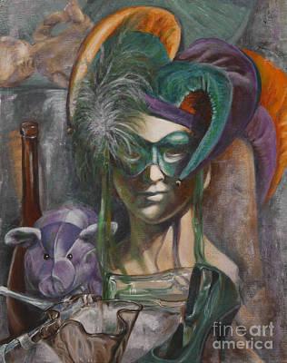 Mardi Gras Art Print by Pam Raney