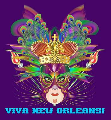 Digital Art - Mardi Gras Party King 5  All Products  by Bill Campitelle