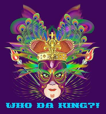 Digital Art - Mardi Gras Party King 6  All Products  by Bill Campitelle