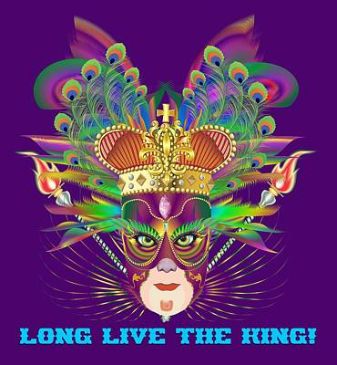 Digital Art - Mardi Gras Party King 9 All Products  by Bill Campitelle