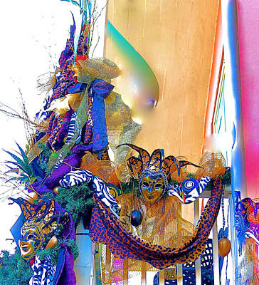 Photograph - Mardi Gras Porch by John Babis
