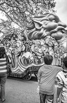 Photograph - Mardi Gras - Rolling Storm Bw by Steve Harrington