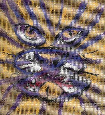 Animal Watercolors Juan Bosco - Mardi Gras Tiger by Seaux-N-Seau Soileau