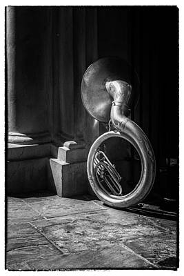 Photograph - Mardi Gras Tuba At Jackson Square by Thomas Lavoie
