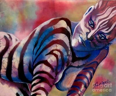 Painting - Mardi Gras Zebra by Robert D McBain