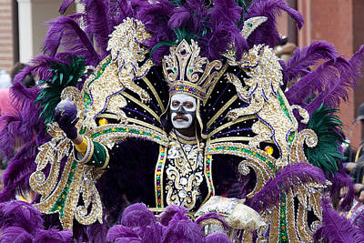 Photograph - Mardis Gras Zulu King by Carol M Highsmith