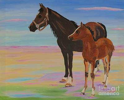 Painting - Mare And Colt by Phyllis Kaltenbach