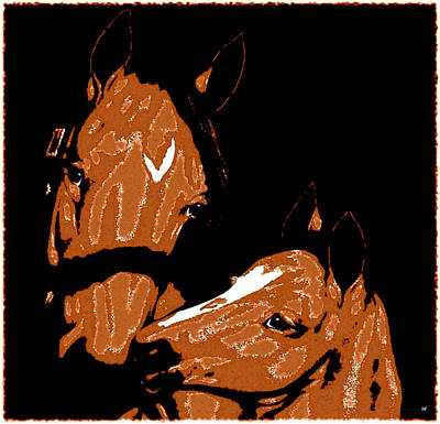 Digital Art - Mare And Colt by Will Borden