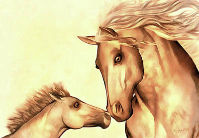 Painting - Mare And Foal by Valerie Anne Kelly