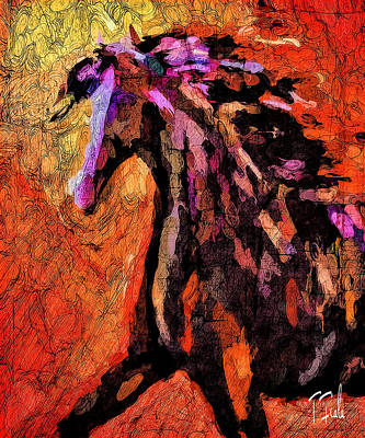 Digital Art - Mare At The Rez by Terry Fiala
