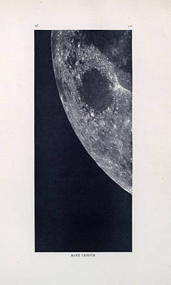 Drawing - Mare Crisium - Sea Of Crises - Surface Of The Moon - Lunar Surface - Old Atlas - Celestial Chart 03 by Studio Grafiikka