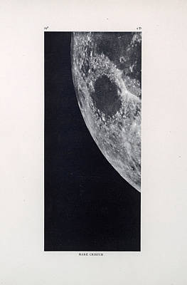 Drawing - Mare Crisium - The Sea Of Crises - Surface Of The Moon - Lunar Surface - Atlas - Celestial Chart 02 by Studio Grafiikka