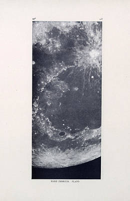 Drawing - Mare Imbrium - Surface Of The Moon - Lunar Surface - Lunar Chart - Celestial Chart 04 by Studio Grafiikka
