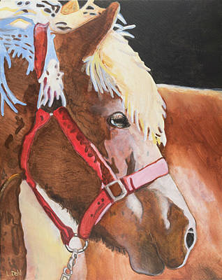 Icelandic Horse Painting - Mare In The Sun by Lois Dahl