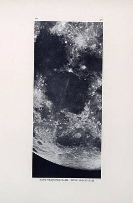 Drawing - Mare Tranquillitatis - The Sea Of Tranquility - Surface Of The Moon - Lunar Surface - Celestial Char by Studio Grafiikka