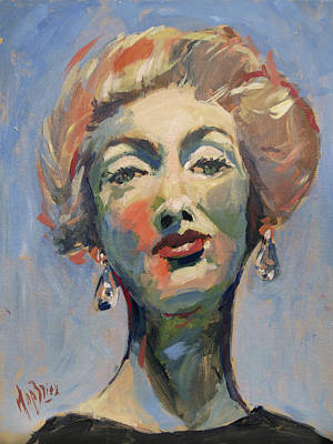 Painting - Marella Agnelli by Nop Briex
