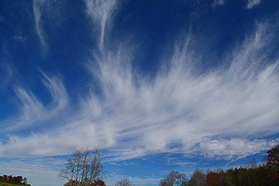 Photograph - Mare's Tails Clouds by Kathryn Meyer