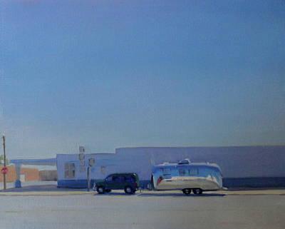 Airstream Trailer Painting - Marfa Texas by Elizabeth Jose