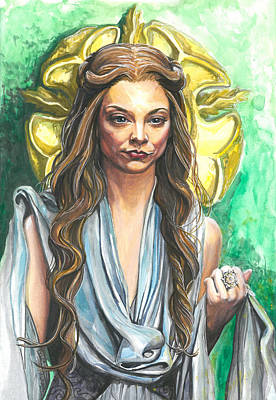 Hunger Games Painting - Margaery Tyrell by Tyler Auman