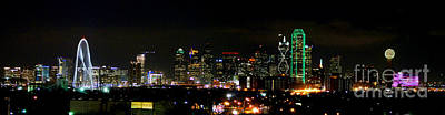 Dallas Skyline Wall Art - Photograph - Margaret Hunt Hill Bridge And Dallas Skyline by Wendy Emel